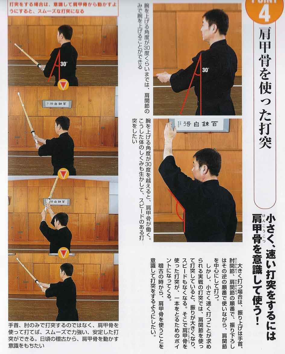 Strike with shoulder blades