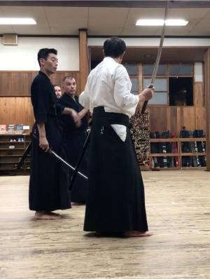 Kondo sensei teaching iaido at Shubukan 2018