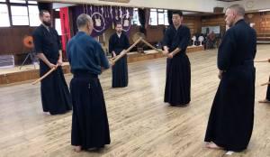 Taking Chudan: Kata with MIyazaki sensei 2018 at Shubukan
