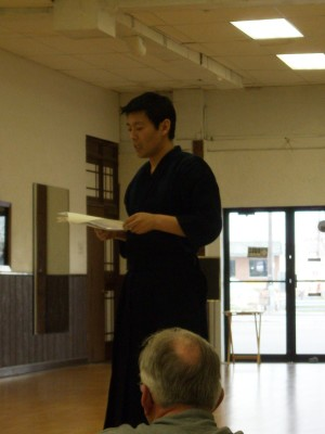 Sharing Info at Kendo Seminar in Indiana, 2008