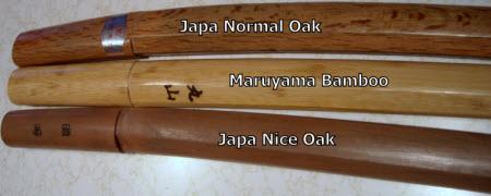 bamboo bokuto,bokuto kodachi,comparison,