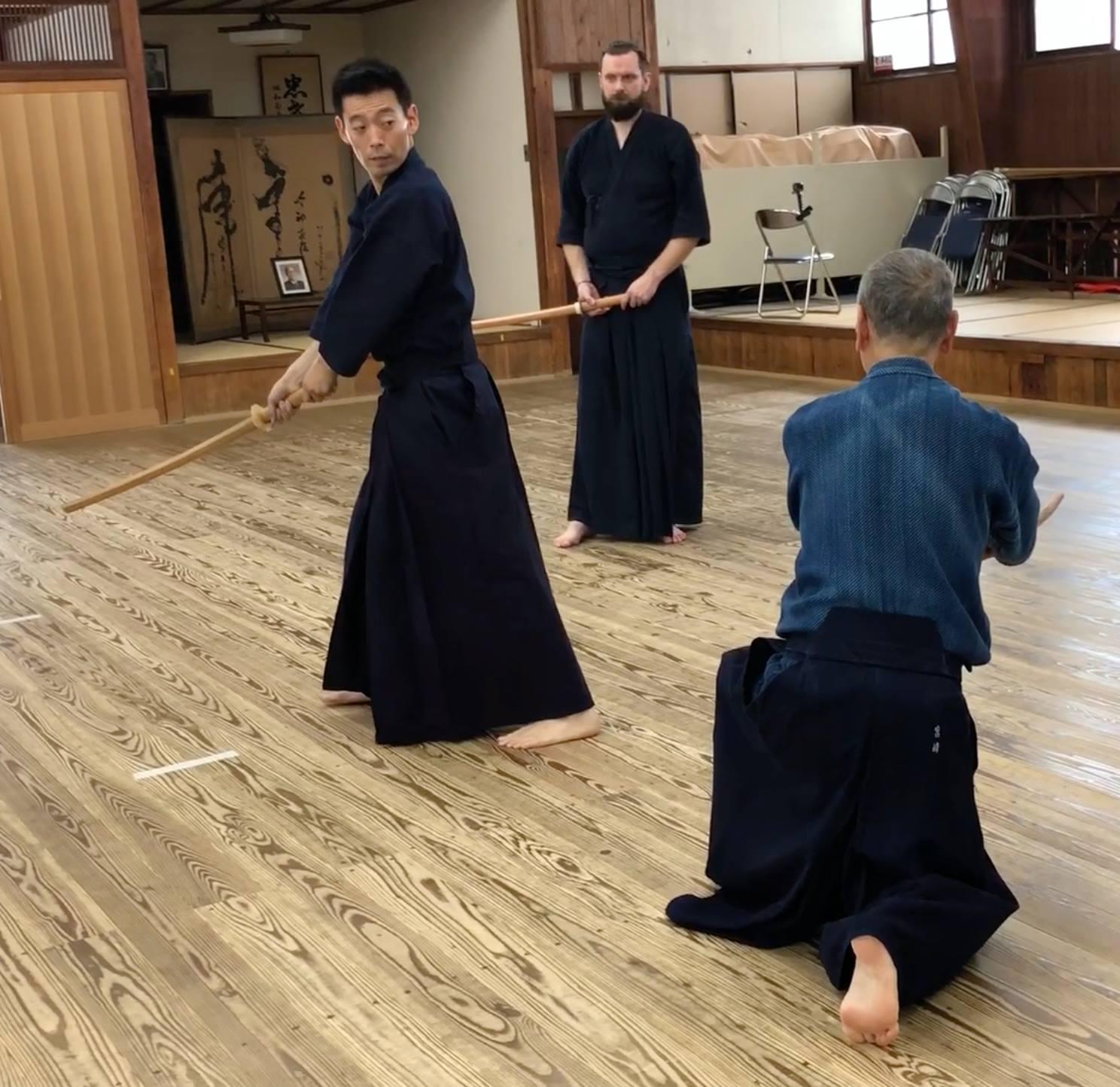 Kata with Miyazaki sensei 2018 Nanahon-me