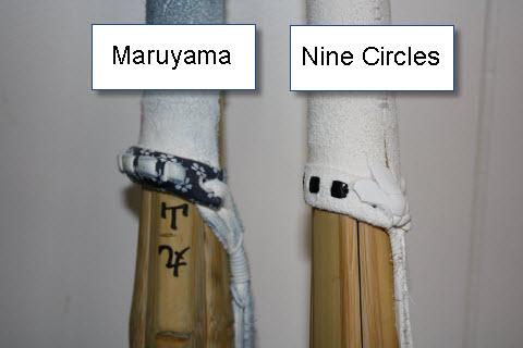 Nine Circle Leather Part (tsuka)