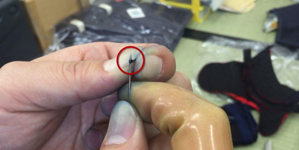 Cutting a String with Sankaku-Bari