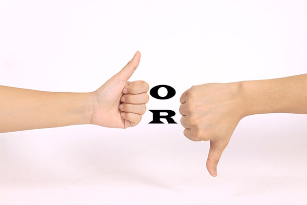 Thumb's up or thumb's down Test and Get a Result