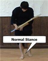 Taking Chudan: Stance