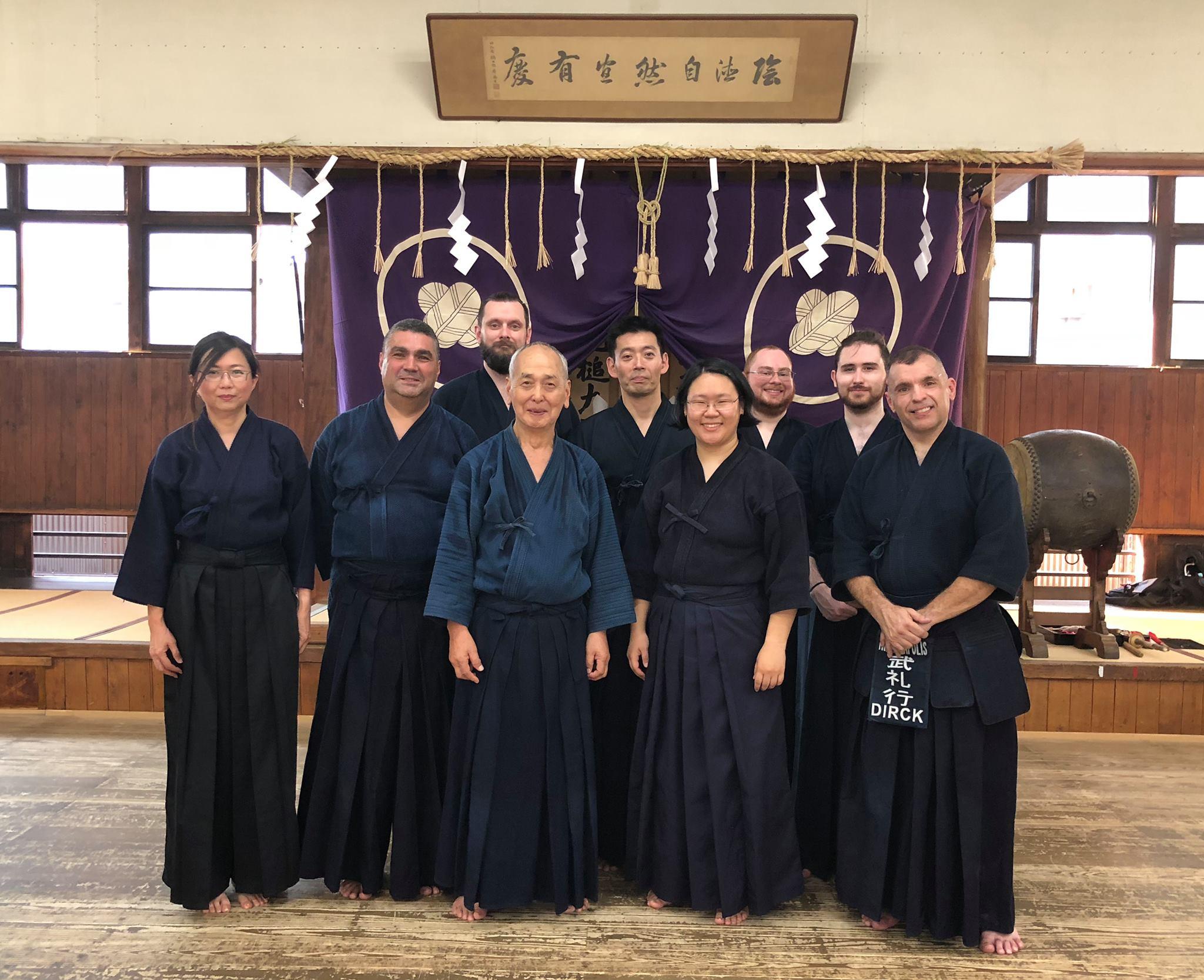 Kendo Japan Tour 2018 Group Photo at Shubukan