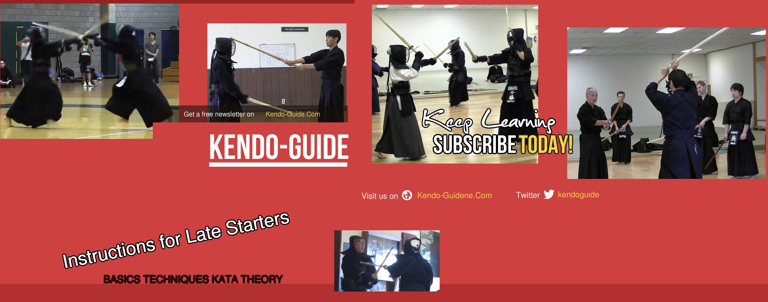 Kendo-Guide.Com YouTube Channel-Kendo Instructions for Audlts and Late Starters